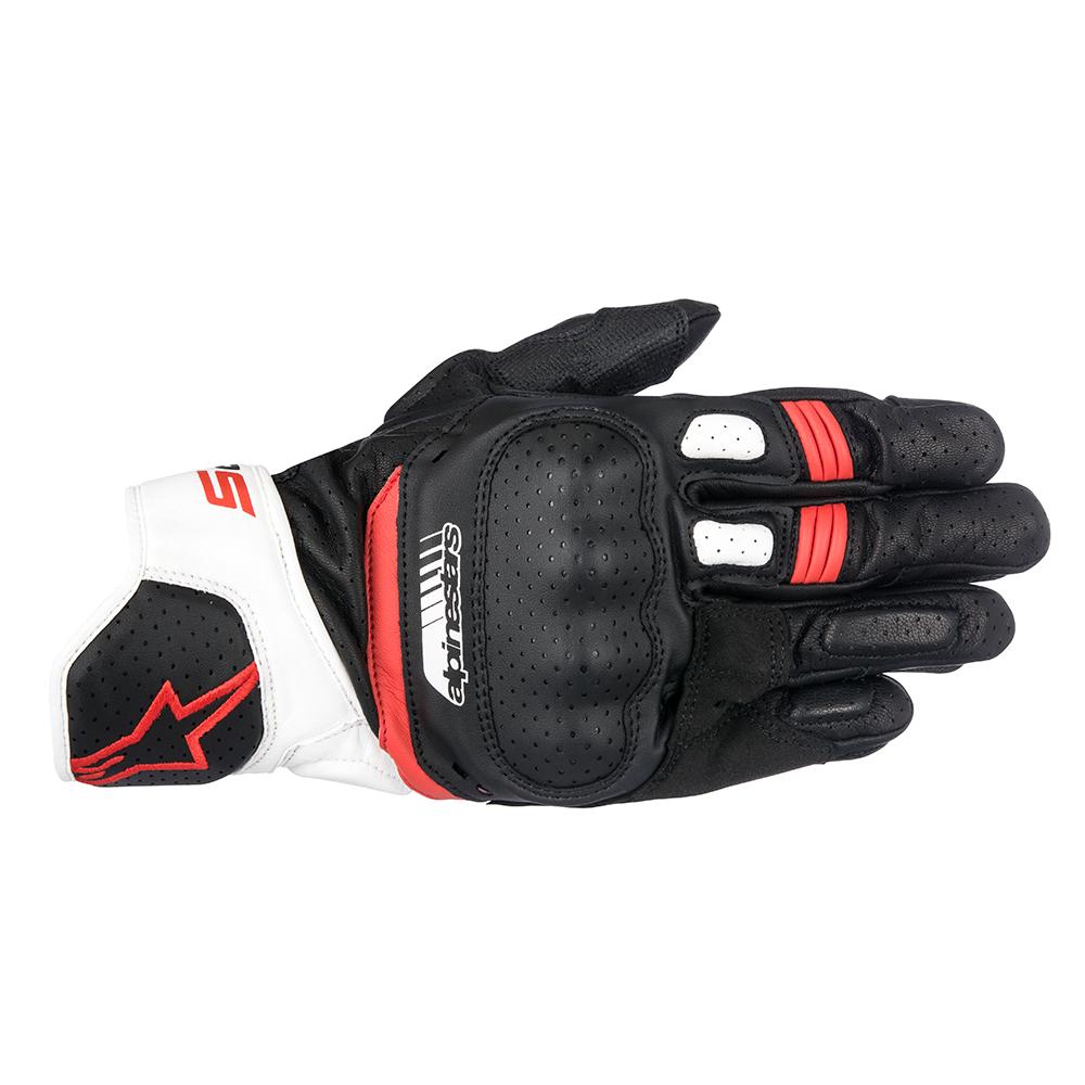 Alpinestars SP-5 Gloves White  Red