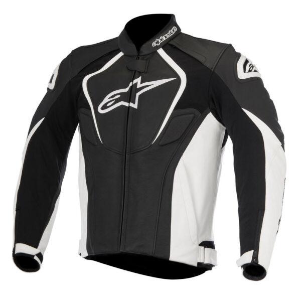 Alpinestars Jaws Leather Jacket Black White