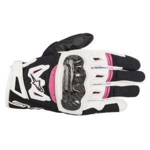 Alpinestars Stella SMX 2 v2 Air Carbon Gloves Black White  Fuchsia