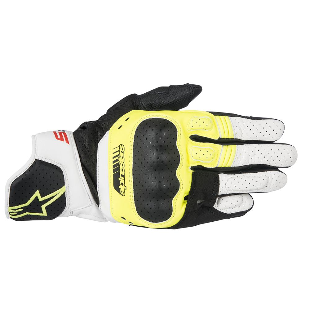 Alpinestars SP-5 Gloves Yellow White  Red