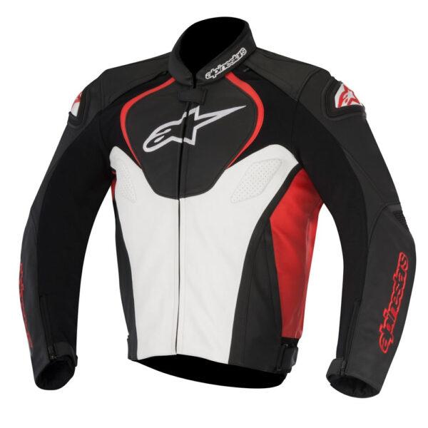 Alpinestars Jaws Leather Jacket Black White Red