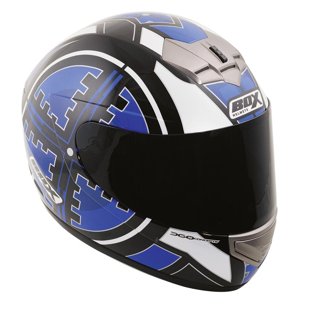 Box BX-1 Scope Full Face Helmet Blue