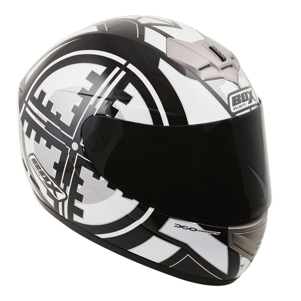 Box BX-1 Scope Full Face Helmet Black