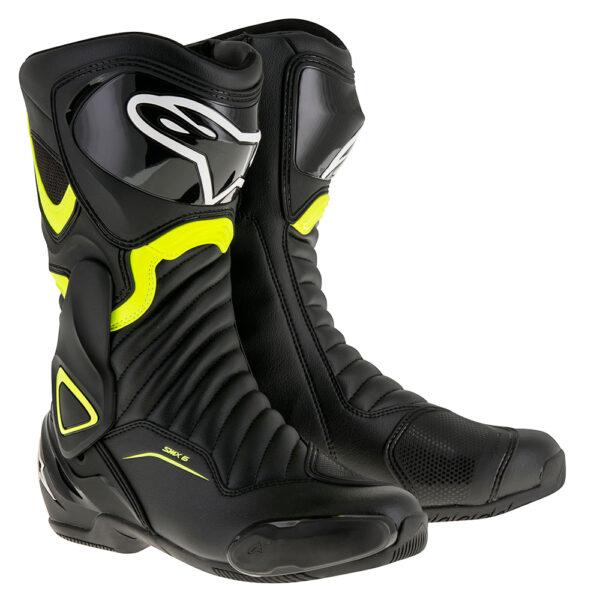 Alpinestars SMX 6 v2 Boot Black  Yellow Fluo