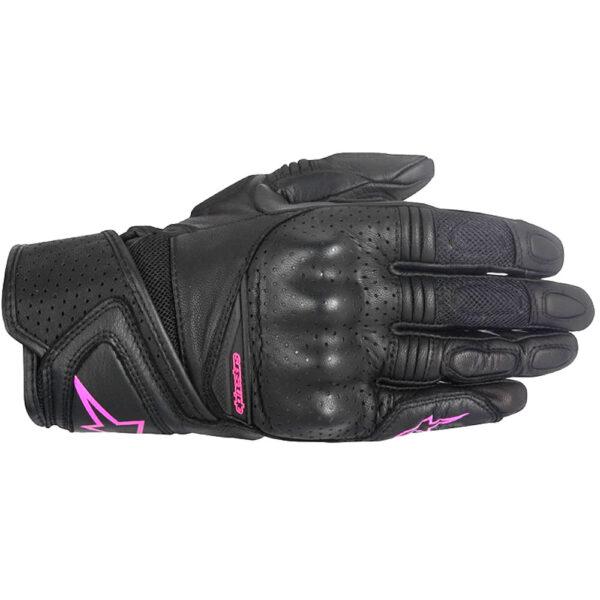 Alpinestars Stella Baika Leather Gloves fuschia