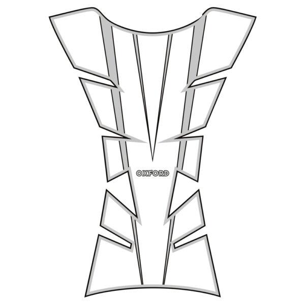 Oxford Sheer Arrow Tank Pad - Silver