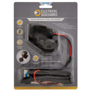 Oxford Dual USB socket 5V 2Amp  10amp fused 1.2mtr loom