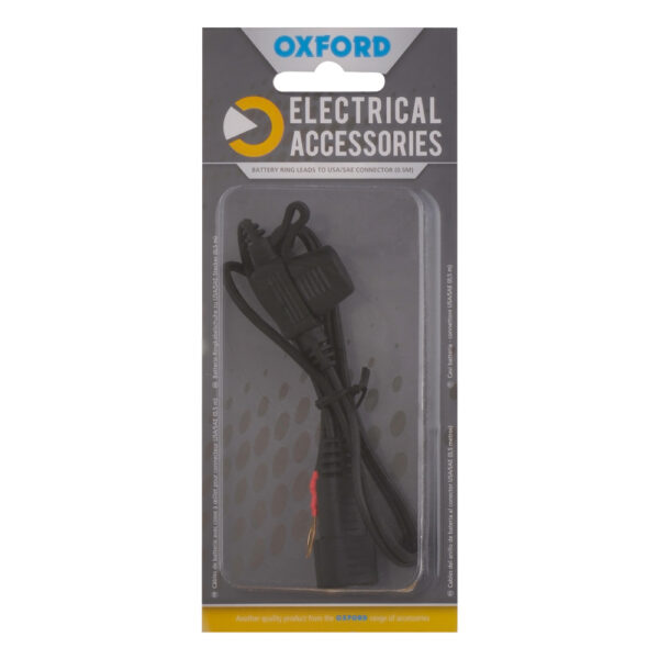 Oxford Battery ring leads to USA/SAE connector 0.5mtr lead