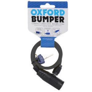 Oxford Bumper cable lock Smoke 6mm x 600mm