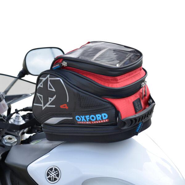 Oxford X4 QR TANK BAG - RED