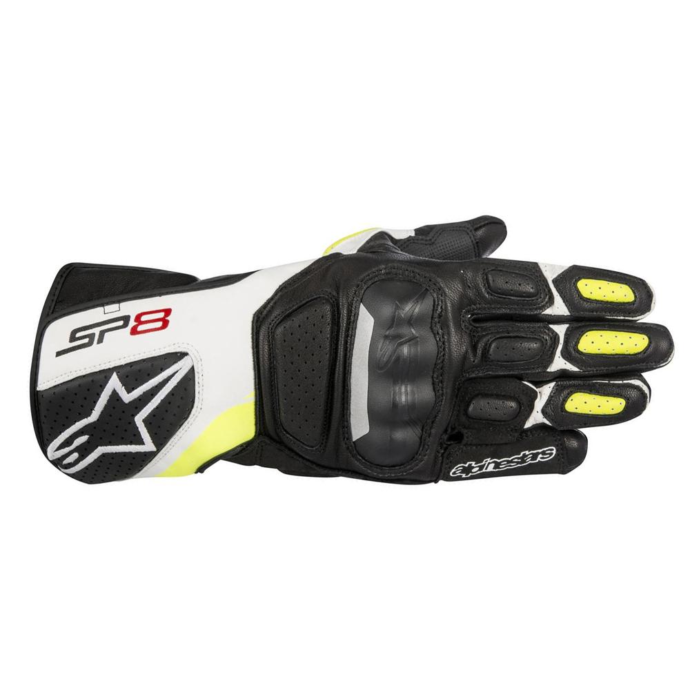 Alpinestars SP-8 v2 Gloves Black White  Yellow Fluo