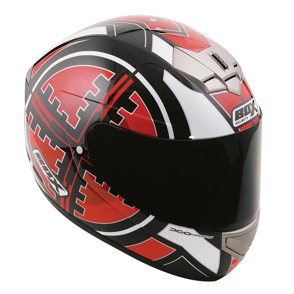 Box BX-1 Scope Full Face Helmet Red