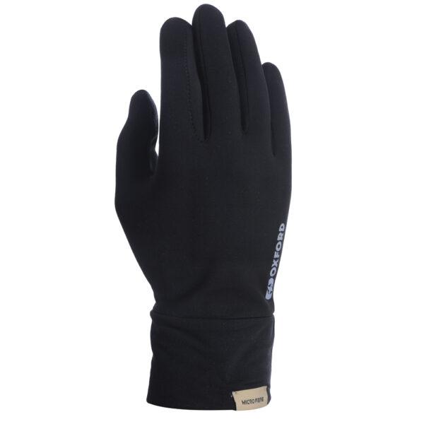Oxford Deluxe Gloves Micro Fibre Blk