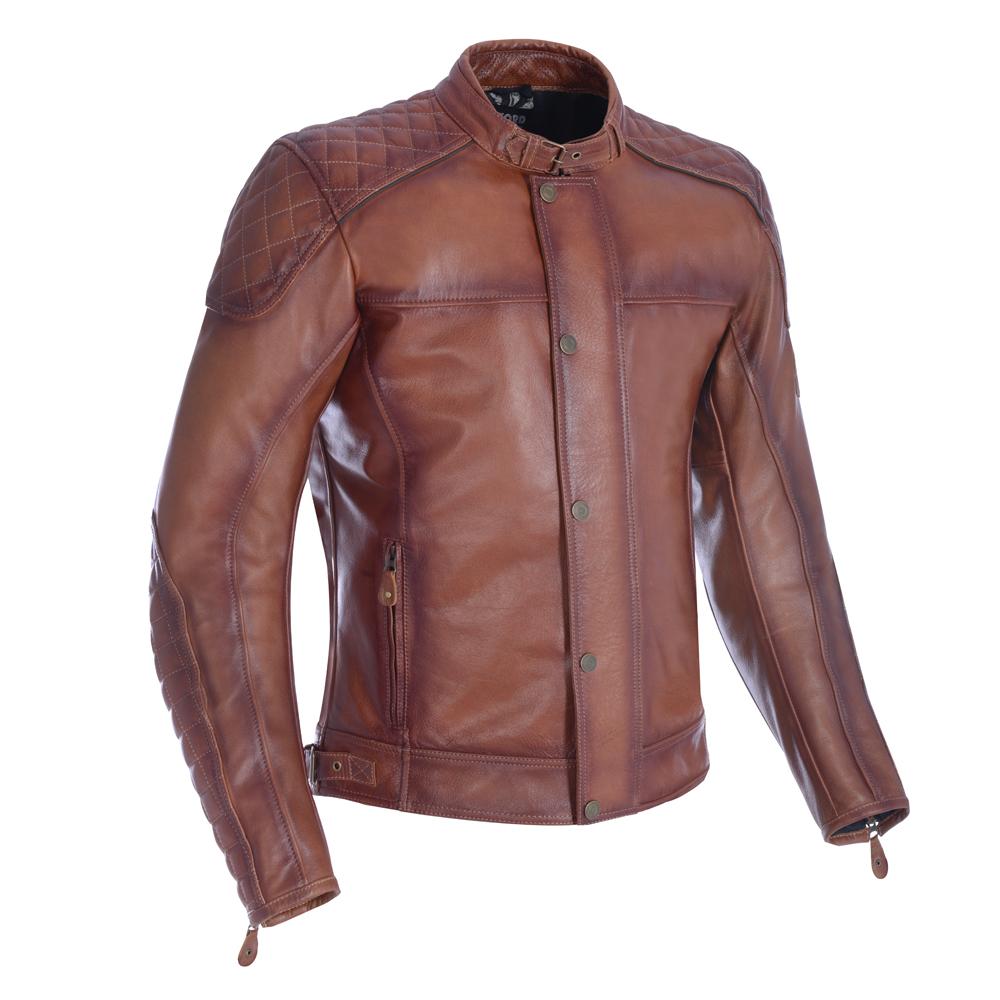 Oxford Hampton Leather Jacket Bourbon