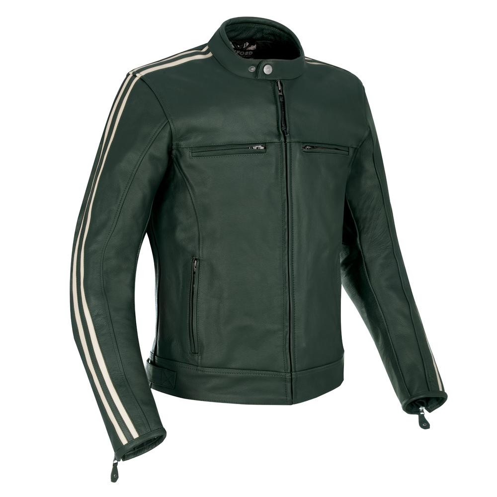 Oxford Bladon Leather Jacket Racing Green