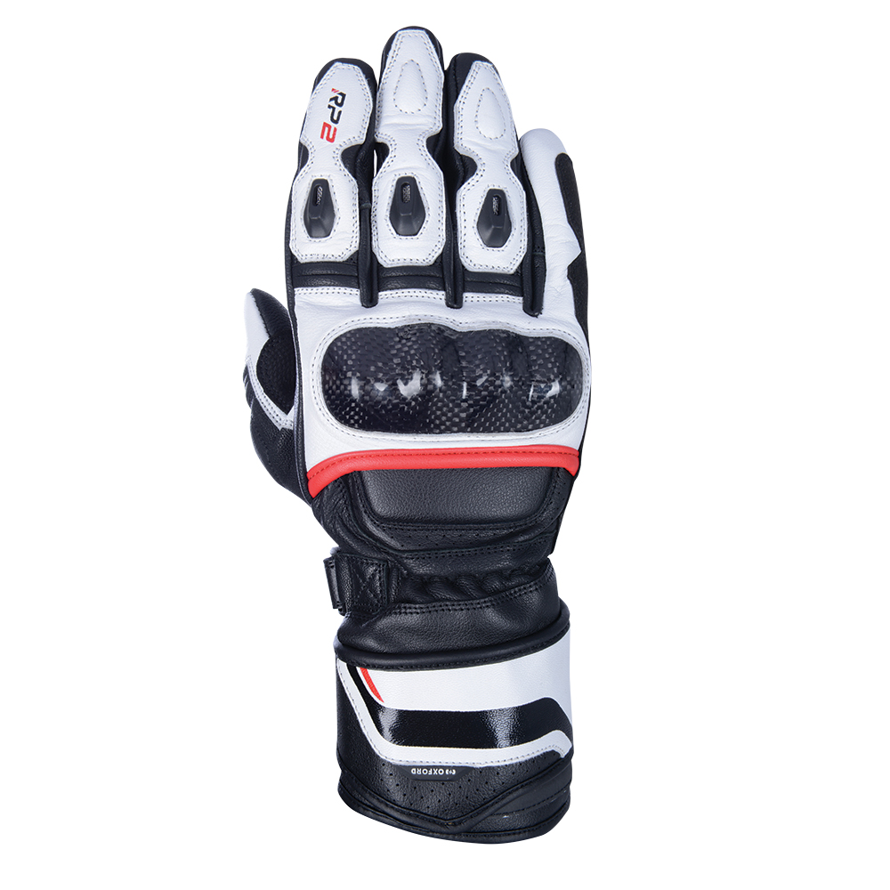 Oxford RP-2 2.0 Sports Gloves Stealth Black White  Red