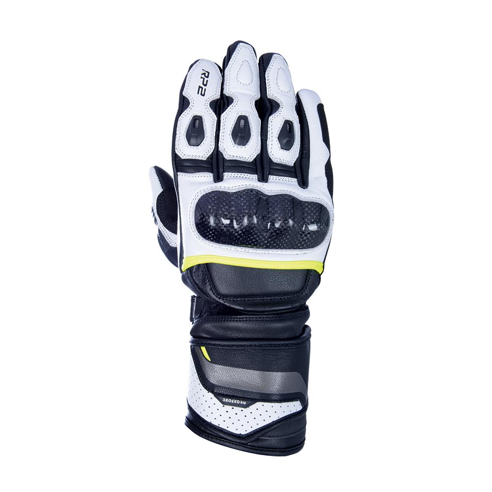 Oxford RP-2 2.0 Sports Gloves Stealth Black White  Fluo