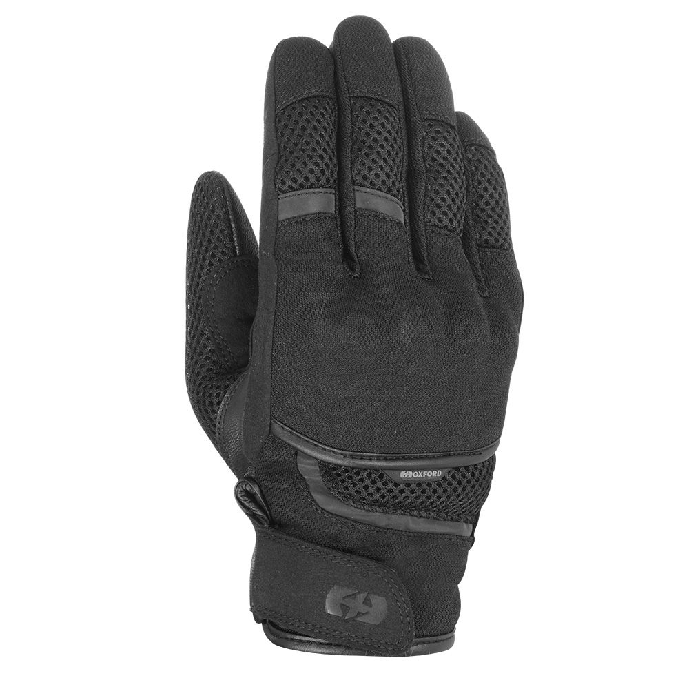 Oxford Brisbane Air Short Gloves Stealth Black