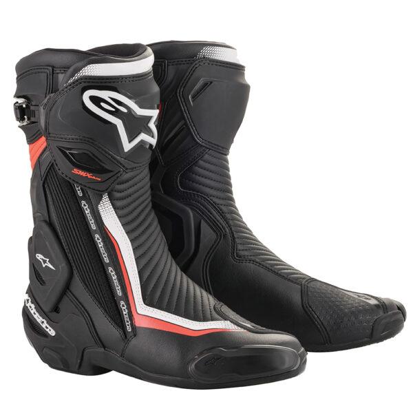Alpinestars SMX Plus v2 Boots Black White  Red Fluo