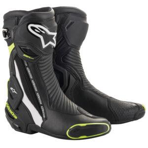 Alpinestars SMX Plus v2 Boots Black White  Yellow Fluo