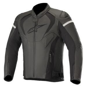 Alpinestars Jaws v3 Leather Jacket Black Black