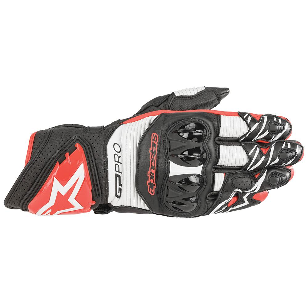Alpinestars Gp Pro R3 Gloves Black White  Bright Red