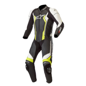 Alpinestars GP Force 1 Piece Leather Suit Black  Yellow Fluo