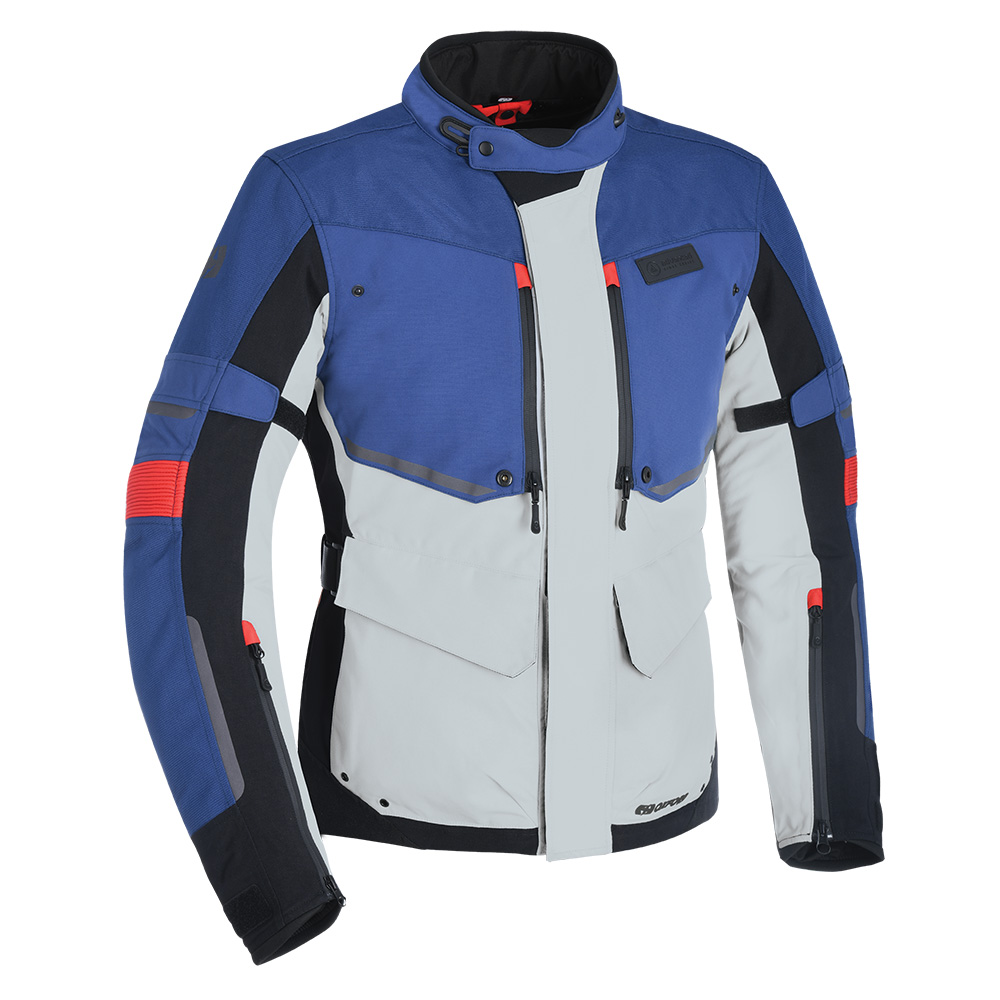 Oxford Mondial Advanced Jacket Grey Blue  Red