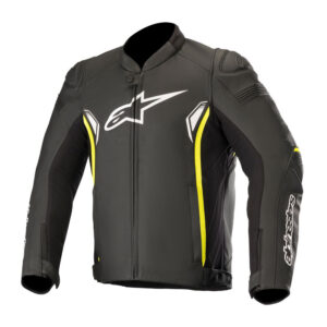 Alpinestars SP-1 v2 Leather Jacket Black  Yellow Fluo