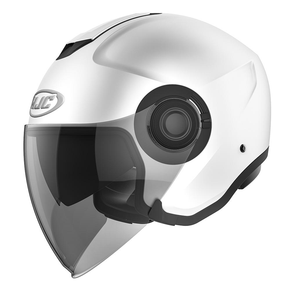 HJC I40 Semi Flat Pearl White