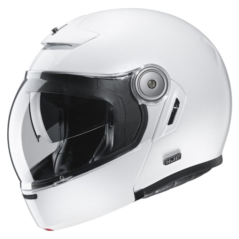 HJC V90 Pearl White