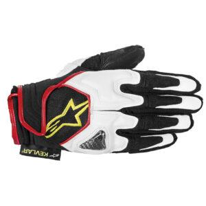 Alpinestars Scheme Gloves White Black Red  Fluo