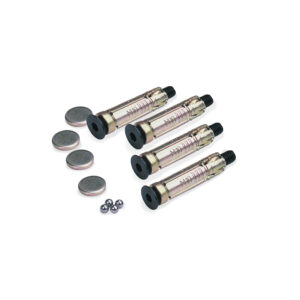 Oxford Pack of 4 Ground Plugs Bolts 6mm Ball Bearings  Caps for Gr
