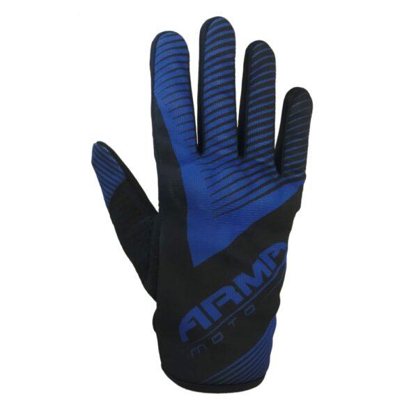 ARMR KMX8 Kids Motocross Glove - Black  Blue