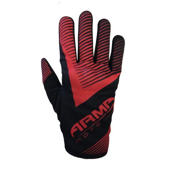 ARMR KMX8 Kids Motocross Glove - Black  Red