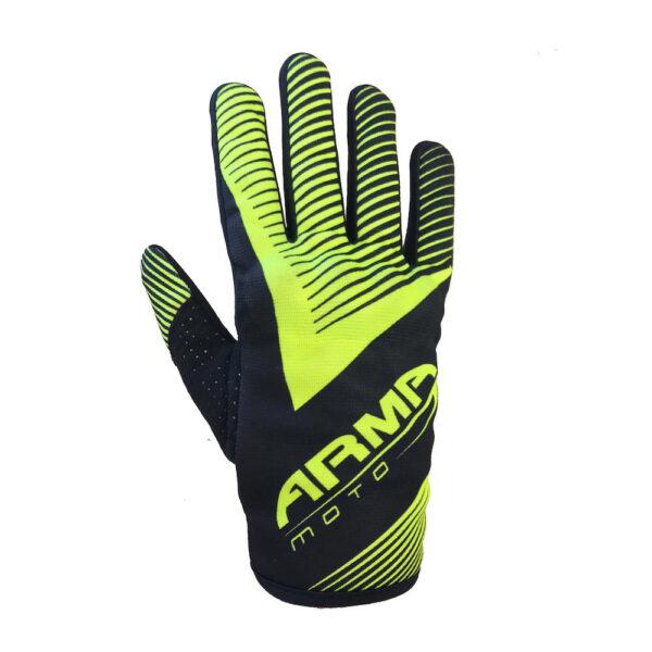 ARMR MX8 Motocross Glove - Black  Fluo Yellow