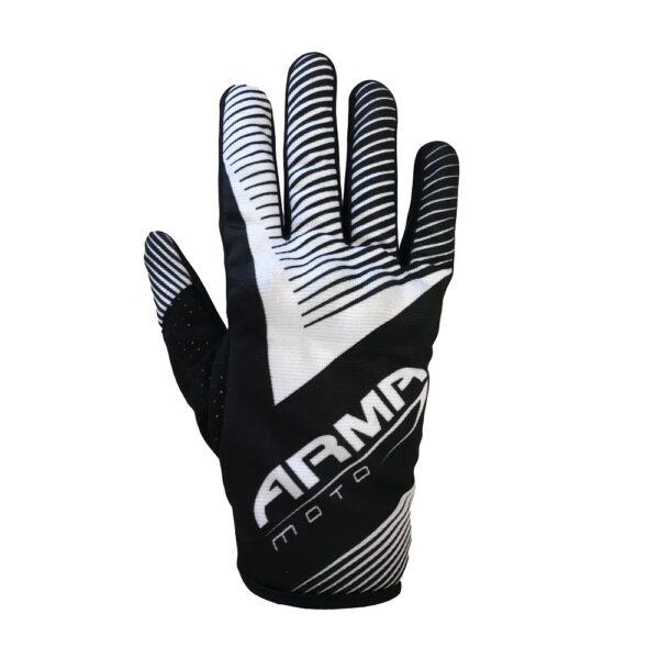 ARMR KMX8 Kids Motocross Glove - Black  White