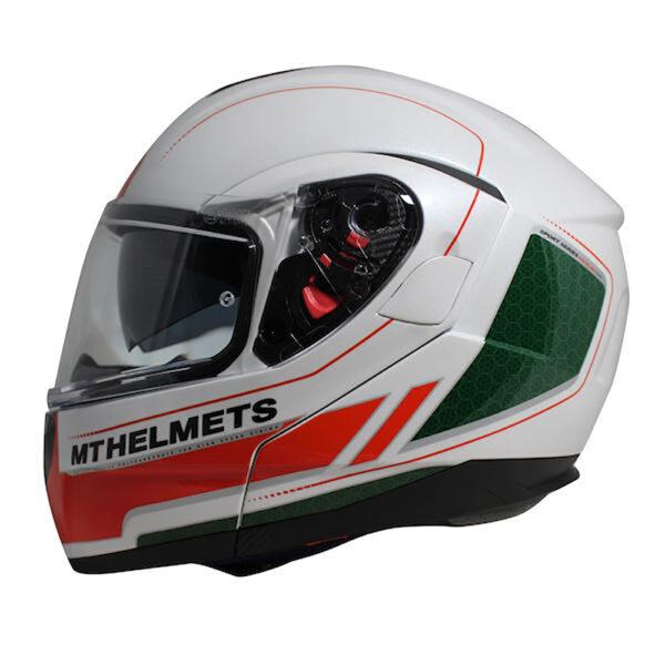 MT Atom Raceline Evo White  Red  Green