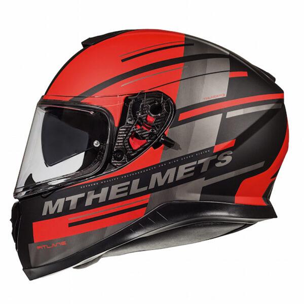 MT Thunder 3 Pitlane Matt Black  Red