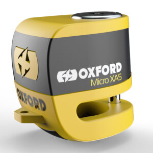 Oxford Micro XA5 Alarm Disc Lock Yellow/Black