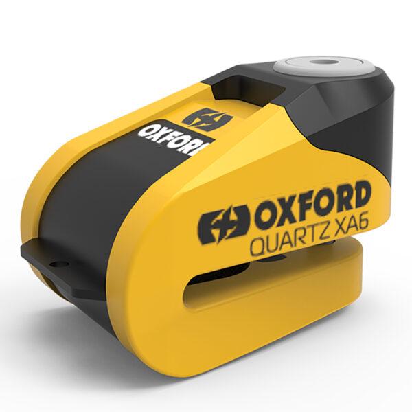 Oxford Quartz XA6 Alarm Disc Lock Yellow/Black