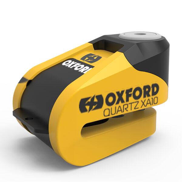 Oxford Quartz XA10 Alarm Disc Lock Yellow/Black