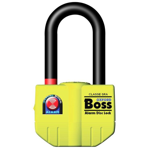 Oxford Boss Alarm disc lock- 14mm Yellow