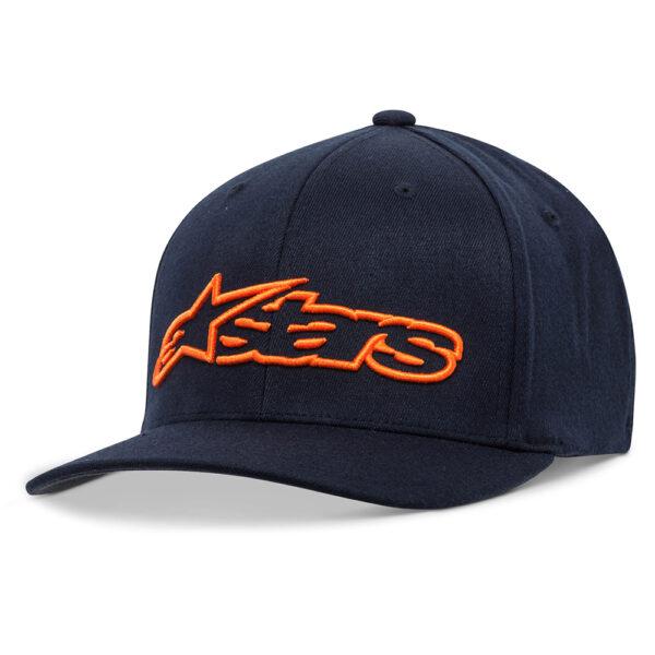 Alpinestars Blaze Flexfit Hat Navy  Orange