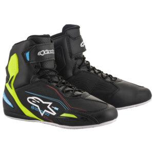 Alpinestars Faster-3 Shoes Blk/Yel/Blu