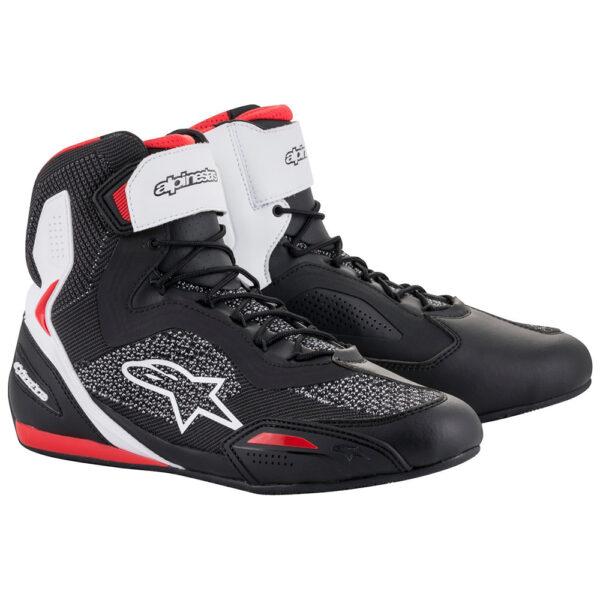 Alpinestars Faster 3 Rideknit Shoes Black/White/Red